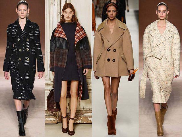 двубортные модные пальто