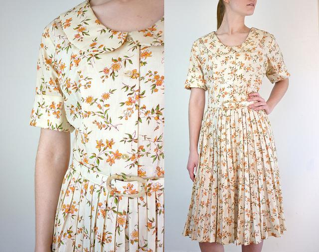 Винтажное платье из хлопка