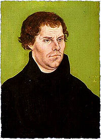 Мартин Лютер. Работа Лукаса Кранаха