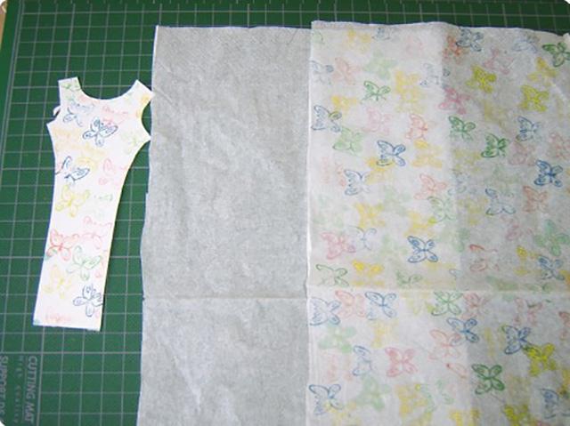 платье из бумажных салфеток 4