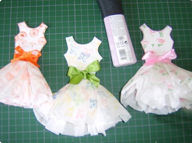 платье из бумажных салфеток 9
