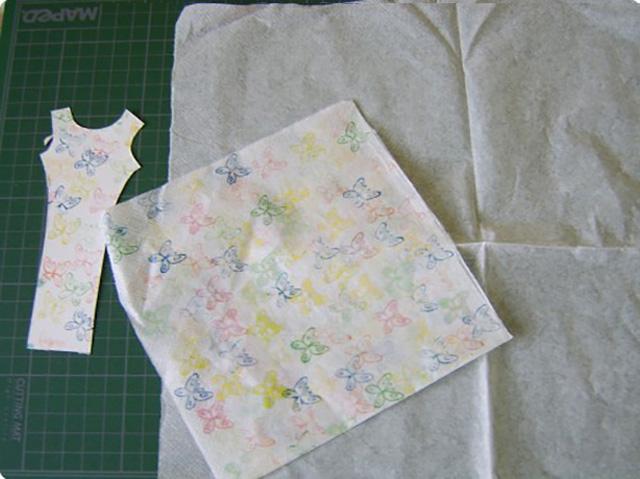 платье из бумажных салфеток 3
