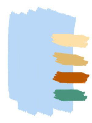 Голубой сочетание цветов