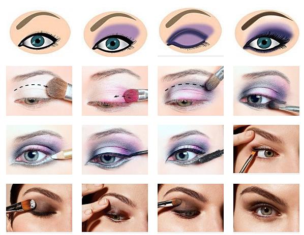 современный макияж глаз