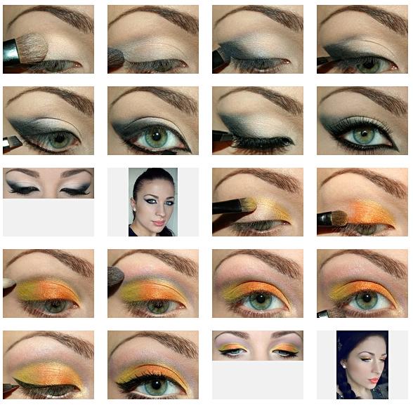 экстравагантный макияж глаз