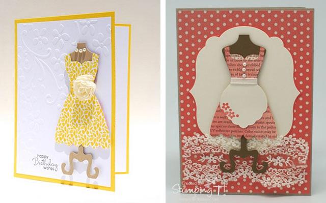 открытки с днем рождения в виде платья своими руками