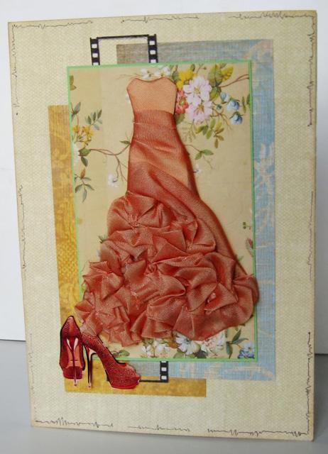 Скорей открытка, открытки своими руками тканью