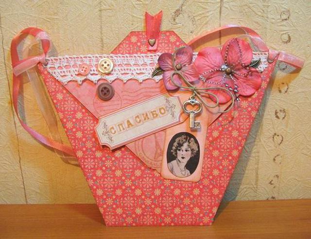 открыточка-сумка на День рождения