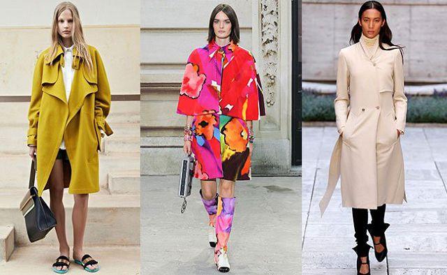 яркие пальто для весны