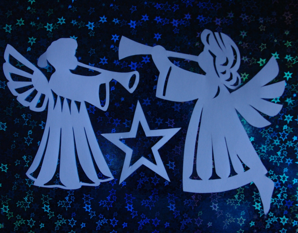 Ангелочки на открытке