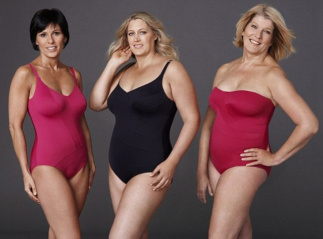 Красивое женского полного тела