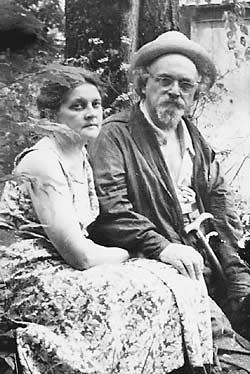 Михаил Пришвин с женой Валерией