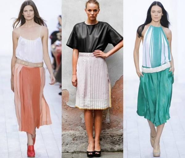 летние плиссерованные юбки