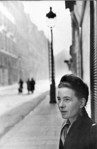 Симона де-Бовуар, Париж, 1947 год