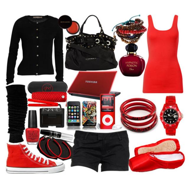 С чем носить красные аксессуары
