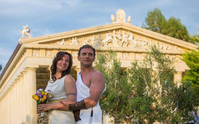 Свадьба в древнегреческом стиле