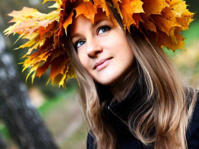 Девушка и осень