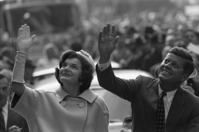Jacqueline Kennedy (1929 - 1994) and her husband