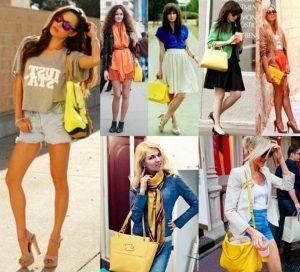 С чем сочетается желтый цвет в одежде 10
