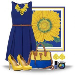 С чем сочетается желтый цвет в одежде 11