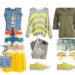 С чем сочетается желтый цвет в одежде 12