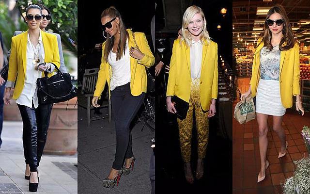 С чем сочетается желтый цвет в одежде 5