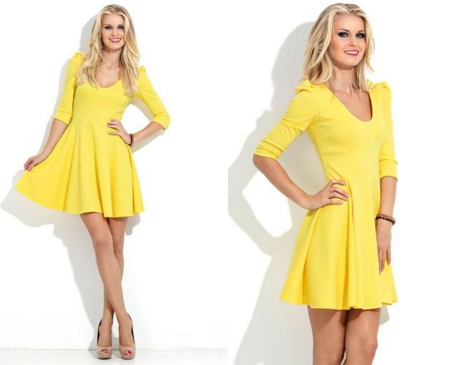 Желтый цвет в одежде сексуально